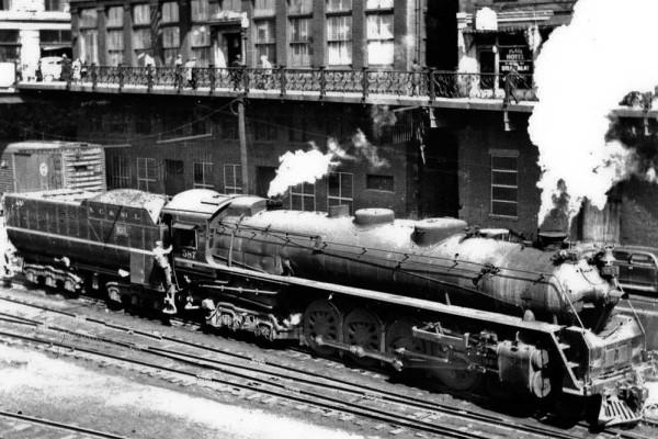 Locomotive 587 in service.