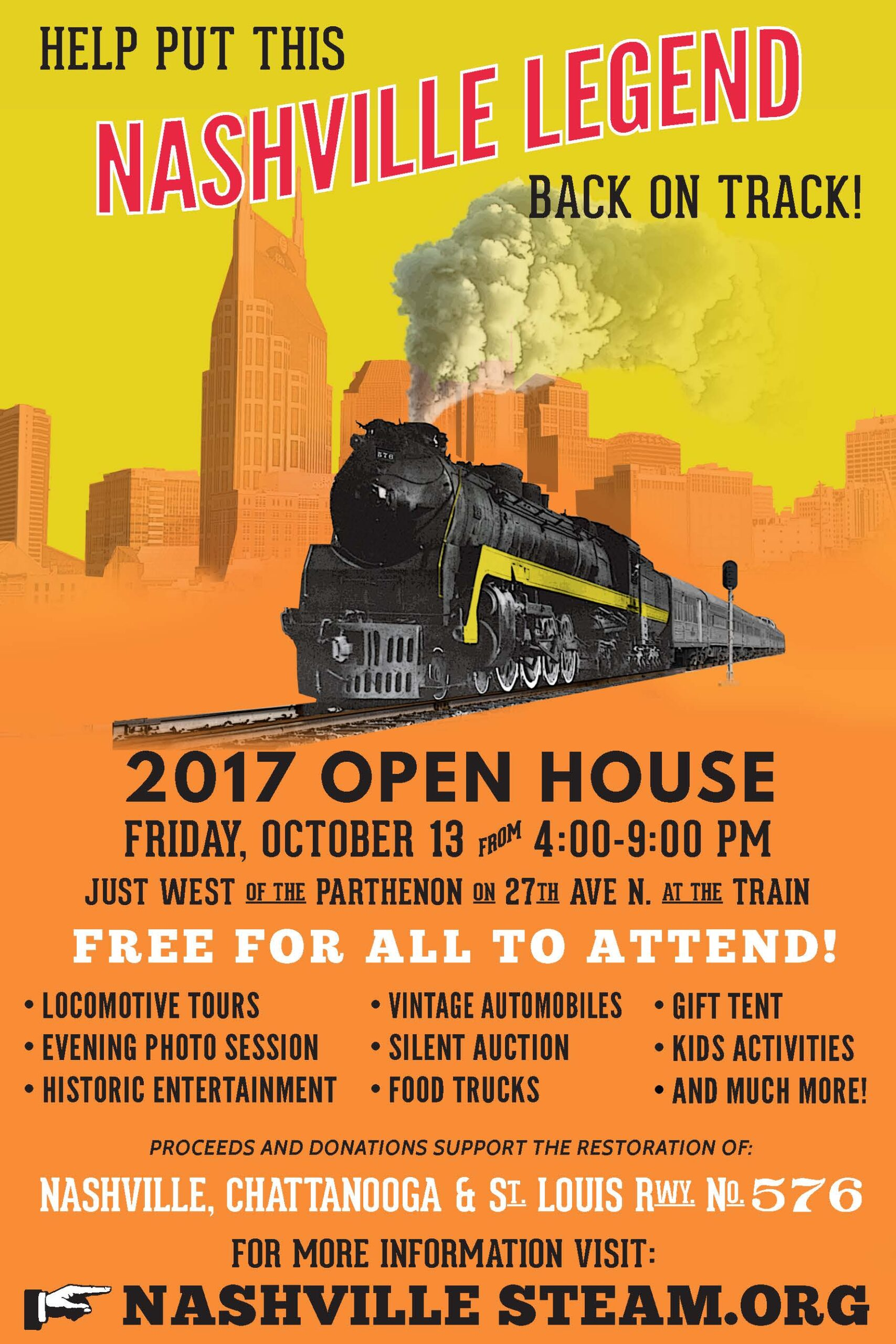Join Us for the 2017 Nashville Steam Open House!